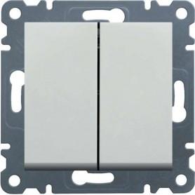 Interruptor Hager Serie LUMINA 2, WL0010 color blanco polar