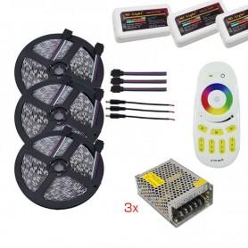 Kit completo RGB de 15 metros TODO INCLUIDO controlable desde un solo mando (por separado)