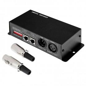 Controlador DMX 512 3 canales DC12-24v 8A por canal.