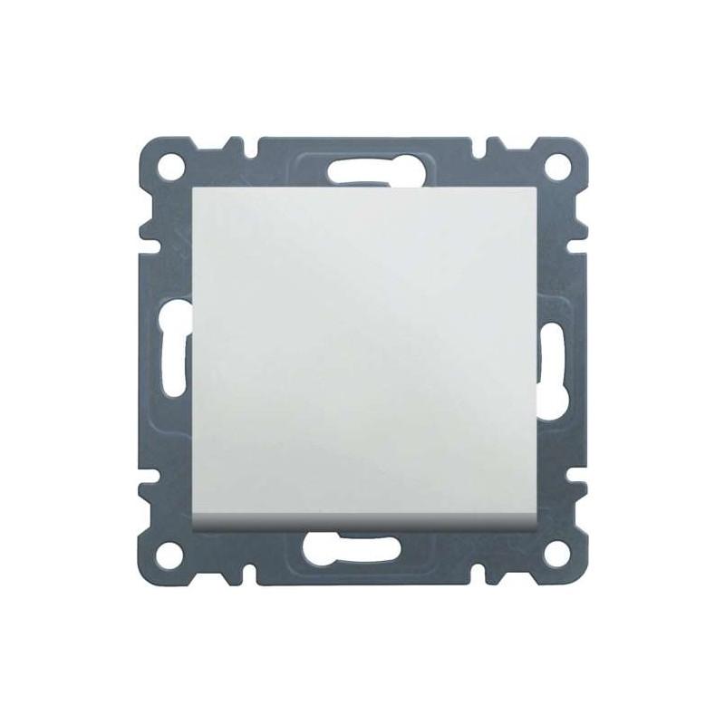 Pulsador Hager Serie LUMINA 2, WL0110 color blanco polar