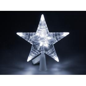 Estrella para árbol de navidad luz blanca