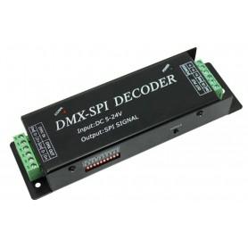 Controladora / Decodificador DMX - SPI 5-24v