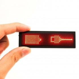 Display programable de color rojo 30 x 92mm