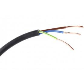 Cable manguera negra 3 x 1,5mm x metro (3 cables de 1,5mm)