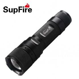 Linterna plata LED CREE cromada alto brillo con zoom modelo Z-267