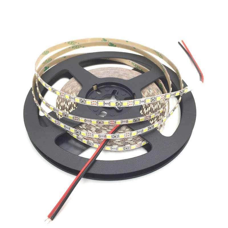 Tira de led 2835 12v 120 led / m 5 mm ancho Blanco Cálido 3000k PCB blanca