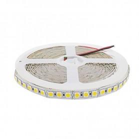 Tira de led flexible de 5 metros SMD 5050 120 led / m SOLO 10mm Blanco Frío 6000 / 6500 K sin protección al agua
