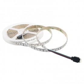 Tira de led flexible de 5 metros SMD 5050 120 led/m SOLO 10mm RGB sin protección al agua