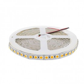 Tira de led flexible de 5 metros SMD 5050 120 led / m SOLO 10mm Blanco Calido 3000 / 3200 K sin protección al agua