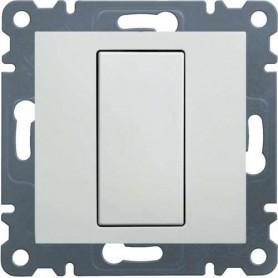 Regulador hasta 600w Hager Serie LUMINA 2, WL4010 color blanco polar