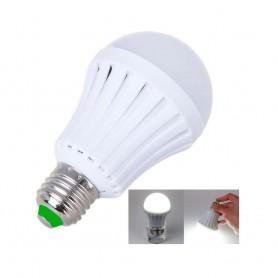 Bombilla 7w LED con función luz de emergencia. Recargable luz blanca