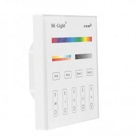 Panel controlador inteligente Mi-Light T4 RGB-CCT con conexión directa a 220v
