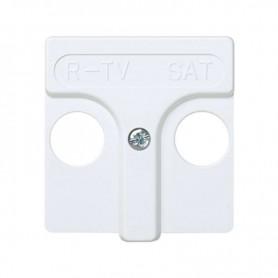 Tapa para R-TV SAT 45x45 SIMON 27 blanco nieve