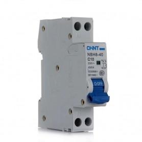 Interruptor automático estrecho de dos polos 25A, CHINT NBH8-1N-25