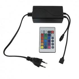 Fuente de alimentación con controladora RGB 72w