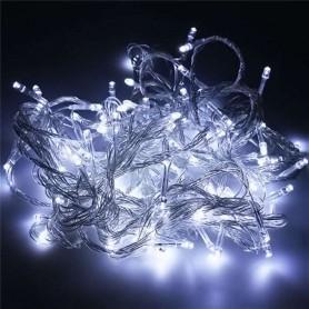 Guirnalda Navidad LED 10 metros 100 led color blanca LUZ FIJA