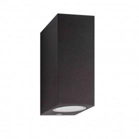 Aplique bidireccional de aluminio para exterior IP44 color negro