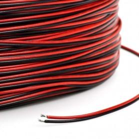 Cable 2 hilos rojo y negro x metro