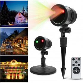 Proyector Laser IP65 para exterior Rojo y Verde efecto Navidad