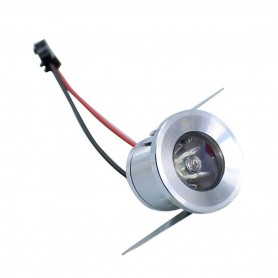 Downlight empotrable 1w plata mini 90 lm
