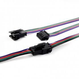 Conector rapido JST RGB macho y hembra con cable de 1 metro con puntas presoldadas