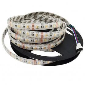Tira de led flexible de 5 metros SMD 5050 60 led / m 4 en 1 RGB 24v - Blanco calido sin protección al agua