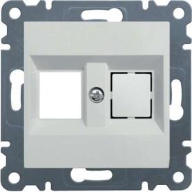 Tapa para 2 conectores teléfono / internet Hager LUMINA2 blanco polar