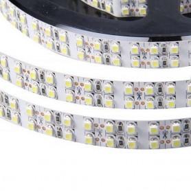 Tira de led flexible de 5 metros SMD 3528 240 led / m Blanco Cálido 27000 / 3200 K sin protección al agua
