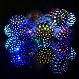 Guirnalda 5 metros bolas metalicas RGB cambio de color