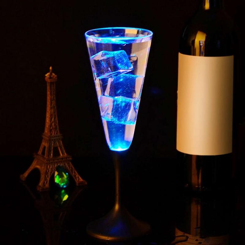 Copa de champan / cava con luz led RGB