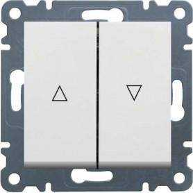 Doble pulsador para persianas hager lumina2 blanco polar - Tlb iluminacion ...