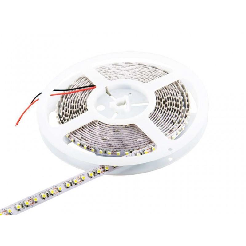 Tira de led a 24v flexible de 5 metros SMD 3528 120 led / m Blanco neutro 4000 / 4500 K sin protección al agua
