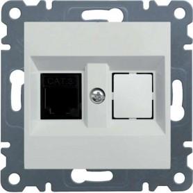 Tapa para 2 conectores tel fono rj11 hager lumina2 blanco polar - Tlb iluminacion ...