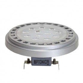 Lampara LED Optonica AR111 base G53 15w 12v 30º EPISTAR