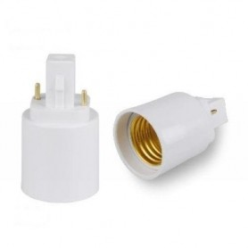 Adaptador conector G24 a E27