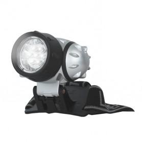 Linterna de cabeza LED 7 led alta potencia luz blanca