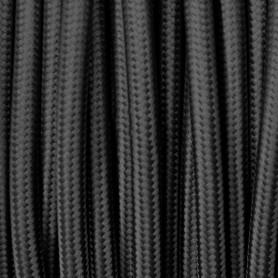 Cable textil negro 6mm