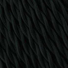Cable textil negro trenzado 6mm