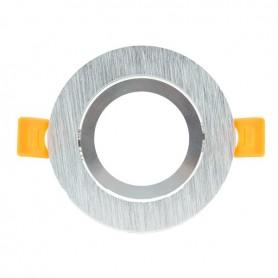 Aro basculante REDONDO para GU10 / MR16 Serie DESIGN niquel rallado