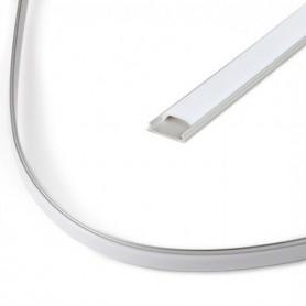 Perfil de aluminio flexible para tira 12/24v 2 metros (Con todos los accesorios)