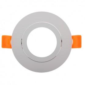 Aro basculante REDONDO para GU10 / MR16 Serie DESIGN blanco