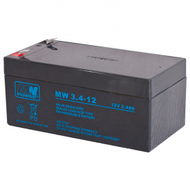 Bateria recargable AGM MW 12V 3.4Ah