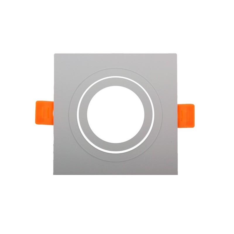 Aro basculante CUADRADO para GU10 / MR16 Serie DESIGN blanco
