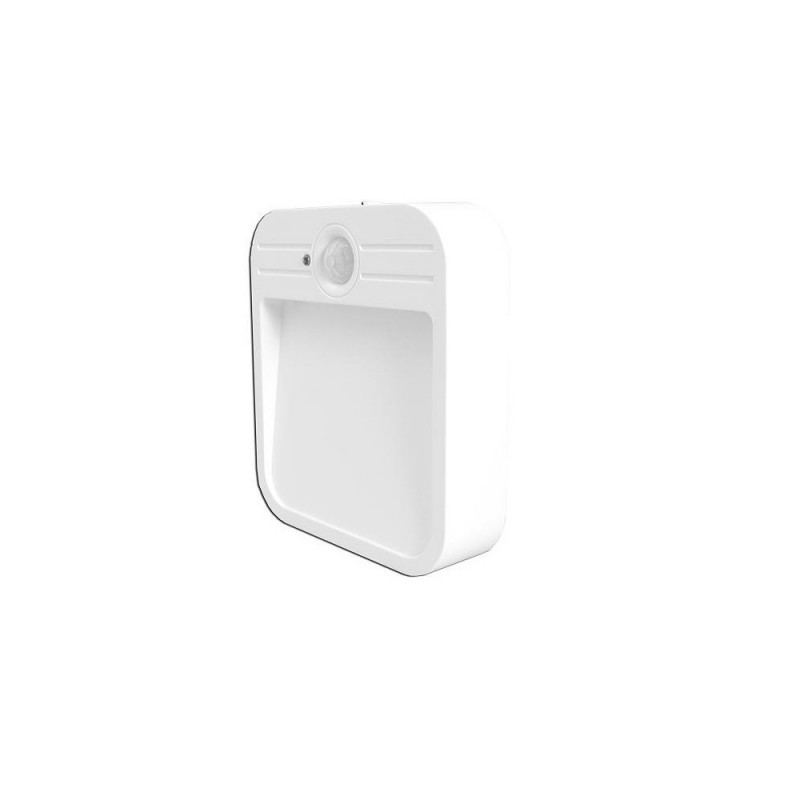 Aplique LED 2w con sensor de movimiento con batería 3,7w 500mA Carga USB.