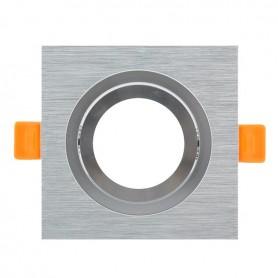 Aro basculante CUADRADO para GU10 / MR16 Serie DESIGN niquel rallado