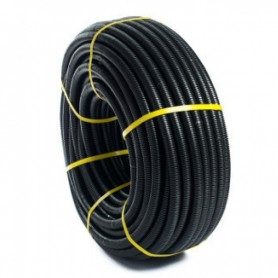 Tubo flexible de PVC corrugado forrado diámetro 20 negro (venta por metro)