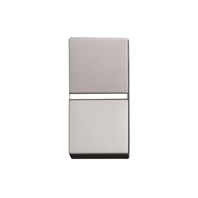 Interruptor estrecho Niessen Zenit plata N2101PL