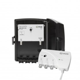 Kit amplificador mastil +Alimentador de 2 salidas Ikusi SBA 100-C60