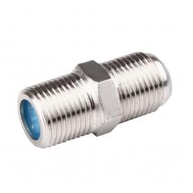 Conector F hembra doble para coaxial 6,6mm RG6