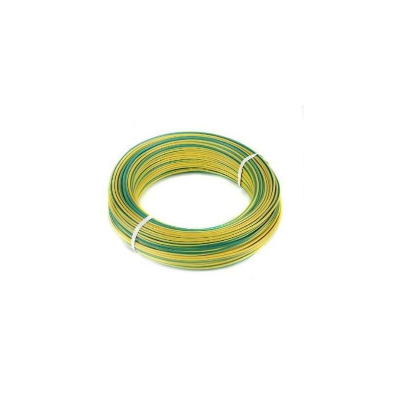 Cable unipolar 1.5mm color AMARILLO / VERDE (Tierra) por metro